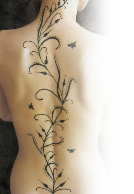 Henna Tattoo Back Spine: Spine Henna Tattoo By Hennaparty On DeviantArt
