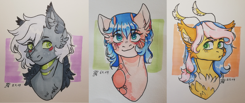 Grotto headshots by Cloud-Drawings