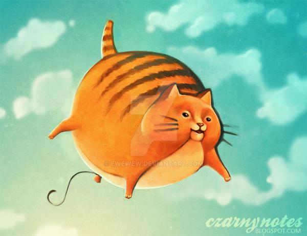 cat baloon by ewewew