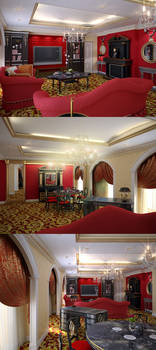 Royal suite in hotel main room