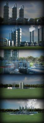 greenish industrial zone