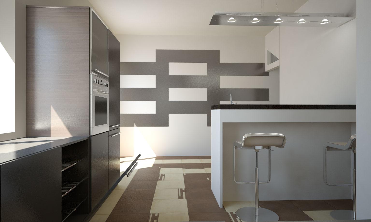 pure white noise kitchen