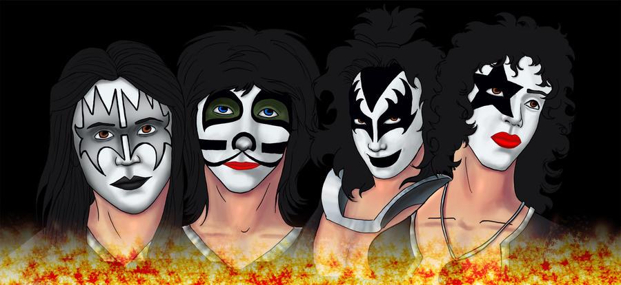 KISS Band by LooneyMann