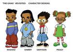 Character designs-The Gang by savideduardo