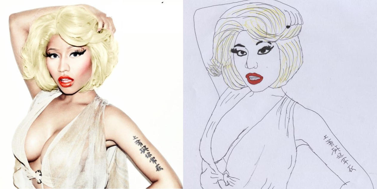 Nicki minaj drawing by ryan4britney on deviantart nicki minaj drawing by ryan4britney voltagebd Image collections