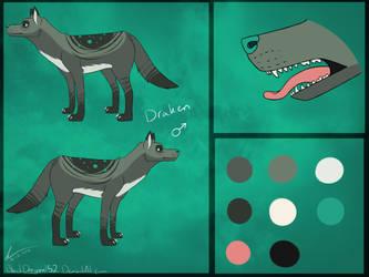 Draken Ref Sheet by Arolitic
