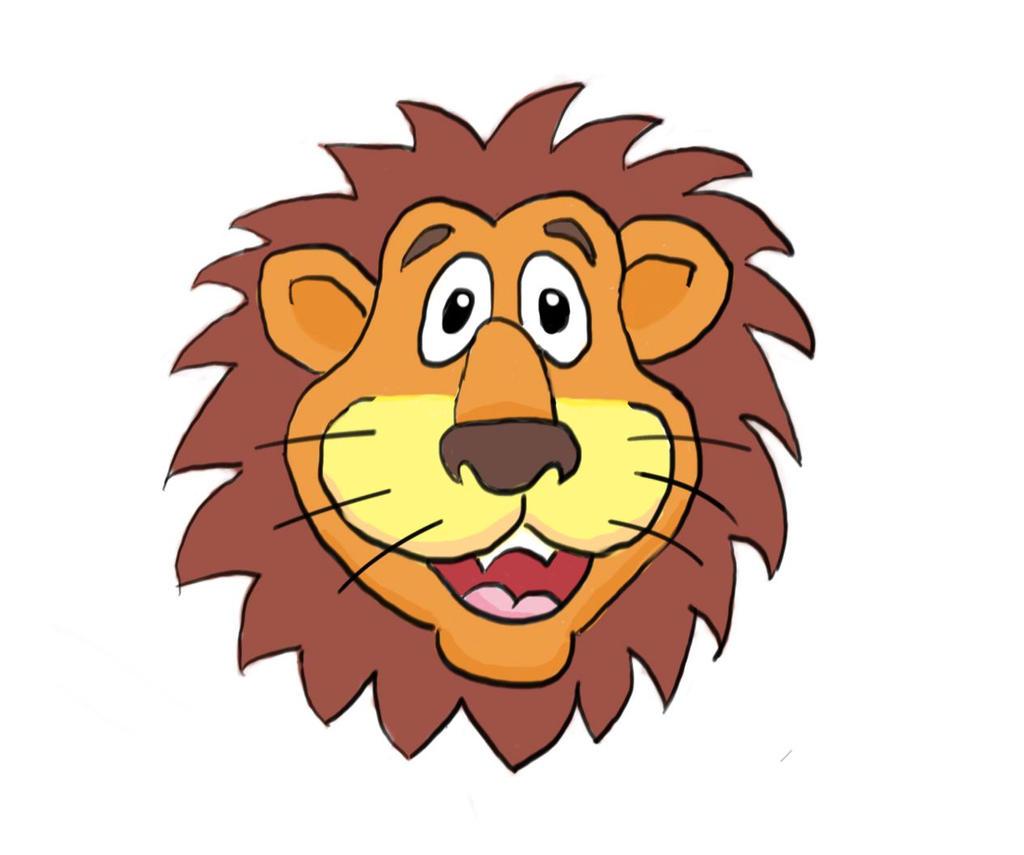 Lion cartoon head - photo#15