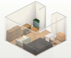 Bedroom by ZeonPonyWolf