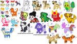 HUGE Canine Adopt Sheet 24/33 OPEN