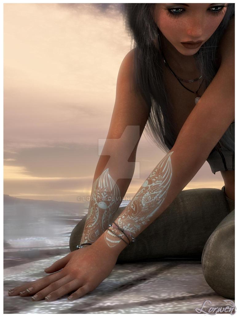 White Tattoo by Loruen