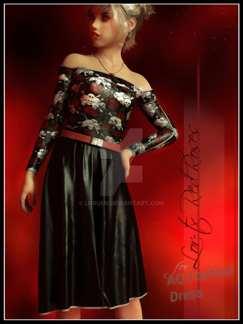 LOR TX Red Roses for AQ Summer Fashion Dress by Loruen