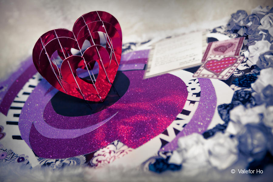 White Valentine's Day Card by ValeforHo