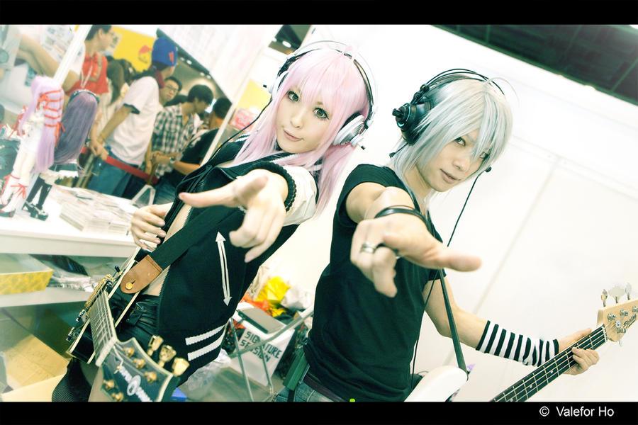 AFA - Super Soniko Chan And Naito Kun by ValeforHo