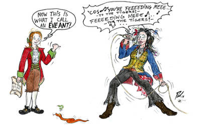 Amy's Art Jam: Gundula dressed as Adam Ant