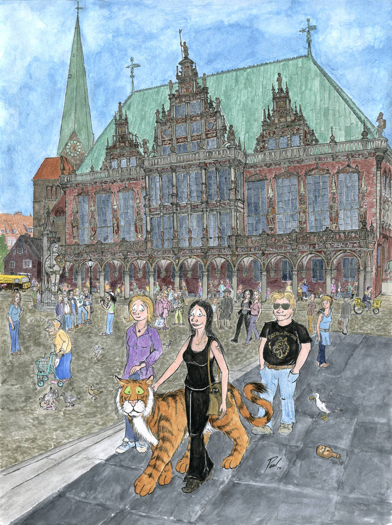 On the Marketplace in Bremen (200th Page Special)
