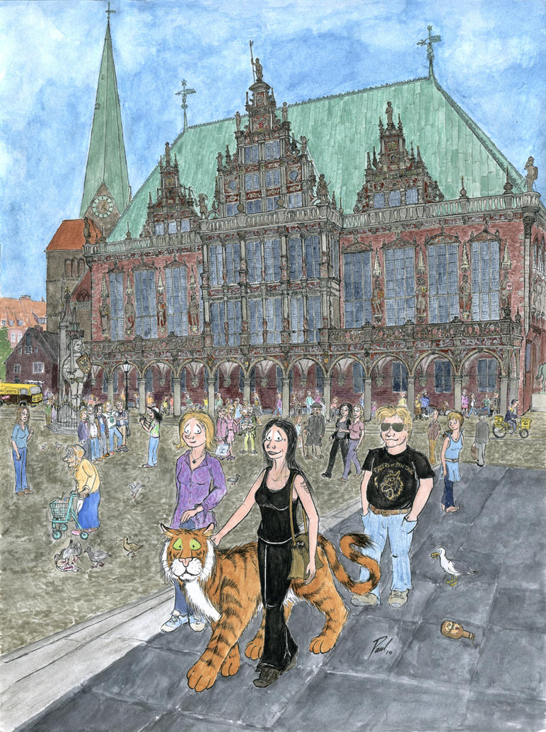 On the Marketplace in Bremen (200th Page Special) by PaulEberhardt