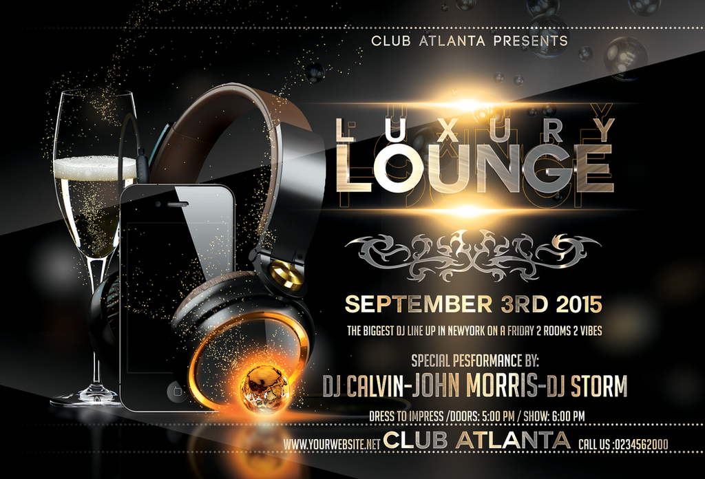 Luxury Lounge Party Flyer Template By Stormclub ... Nice Ideas