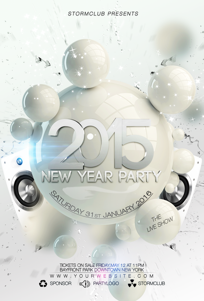 New-Year-Dance-Party-Night-Flyer by stormclub on DeviantArt