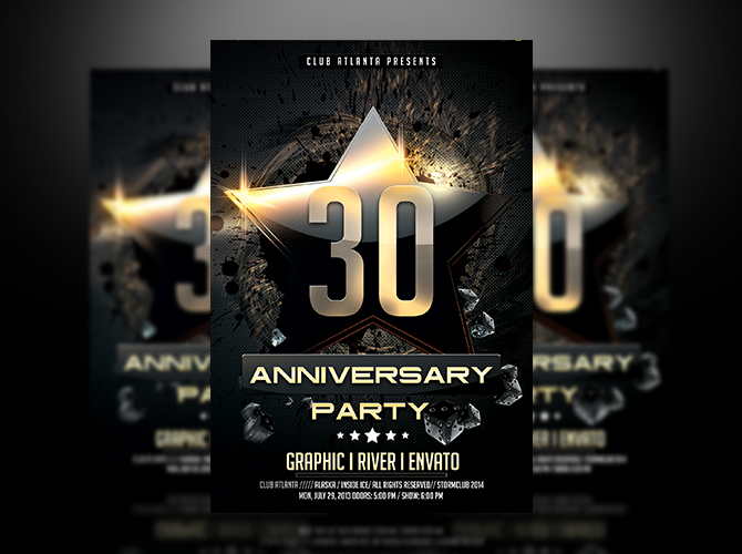 Birthday Anniversary Party Flyer Template By Stormclub ...