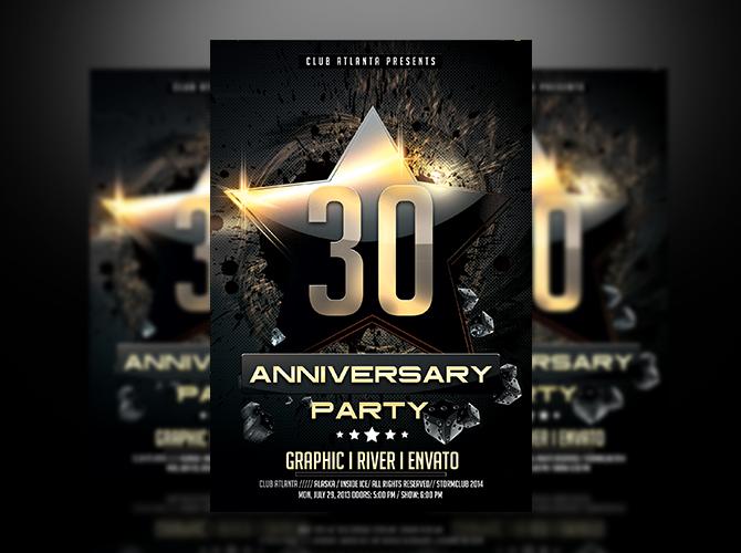 anniversary flyer template