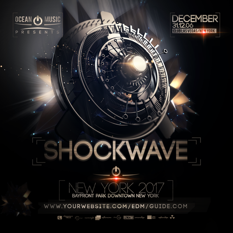 shockwave edm flyer template by stormclub on deviantart. Black Bedroom Furniture Sets. Home Design Ideas