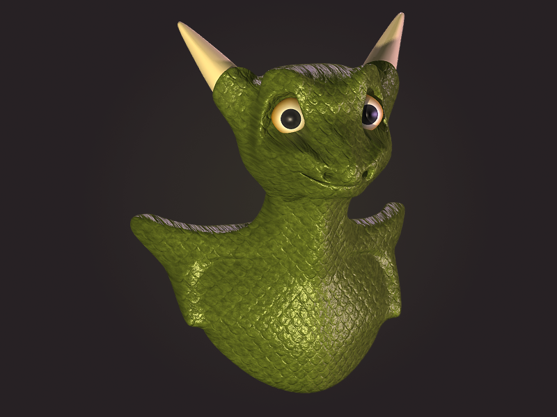 3D Modeling Study: Dragon by fauxonym7