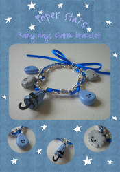 Rainy days charm bracelet by paperstars-shop