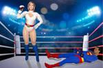 Powergirl destroys Superman