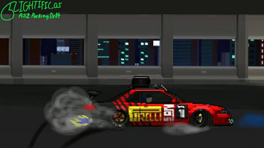 r32 gtr parking drift in pixel car racer by lightific on deviantart