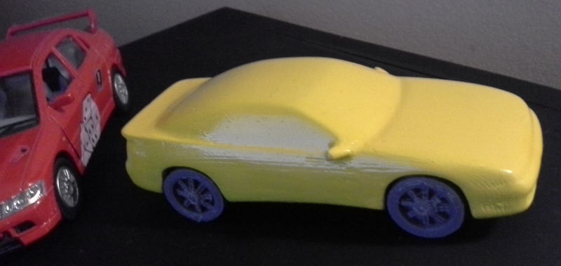 3D printed car model, side-top view by Agent-West on DeviantArt