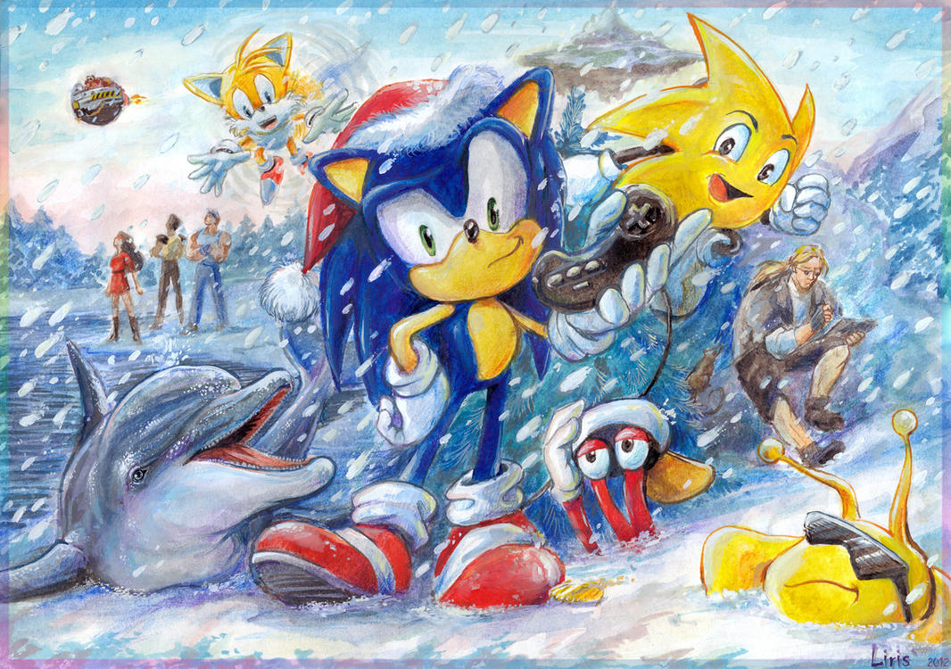 happy new year with sega characters by lirissan on deviantart