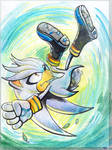 Silver the Hedgehog (for JemiDove) by Liris