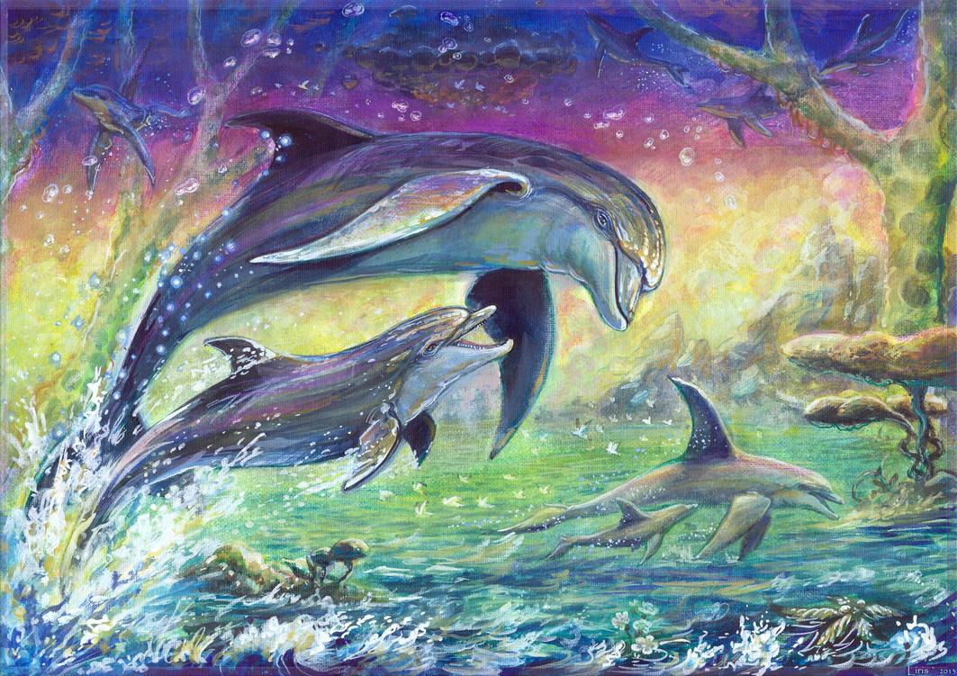 Рисунок море закат
