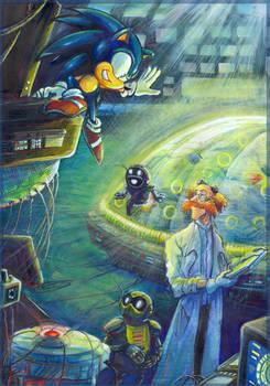 'Thank you!' - Sonic and Dr. Kintobor -  by Liris