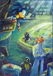 'Thank you!' - Sonic and Dr. Kintobor -  by Liris by Liris-san