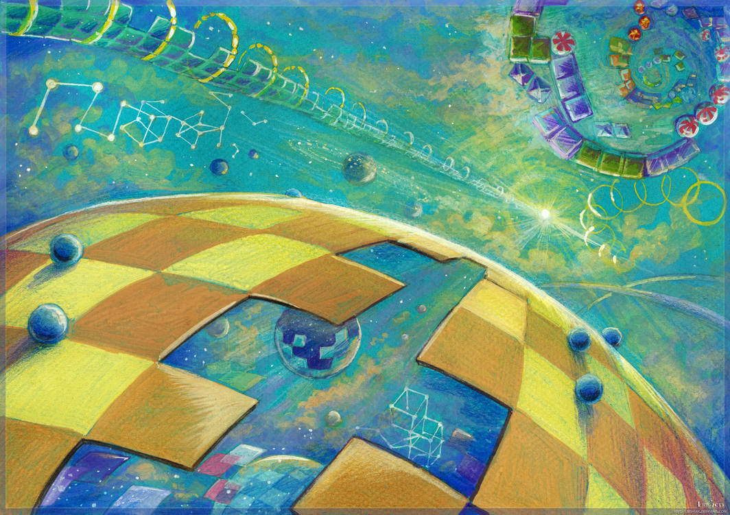 Warps of Confusion (gouache, colored pencils) by Liris-san