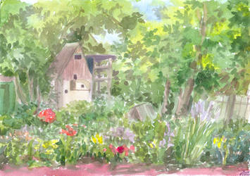 The Pigeon Loft (watercolor etude) by Liris-san