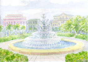 Fainne-Ore - The Fountain of Seven Emeralds by Liris-san