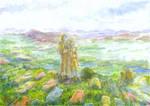On the Back of Sky Giant (Marble Garden)