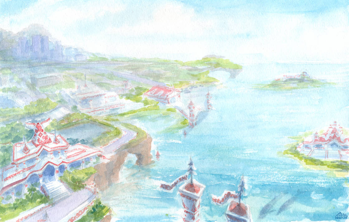 Every Whale is on the Way to Ocean Palace by Liris-san