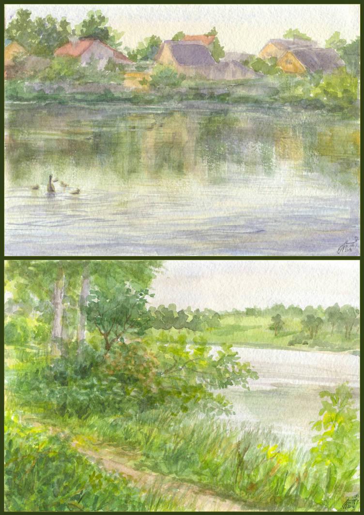 Two Evenings by Liris-san