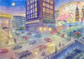 Station Square Lights by Liris-san