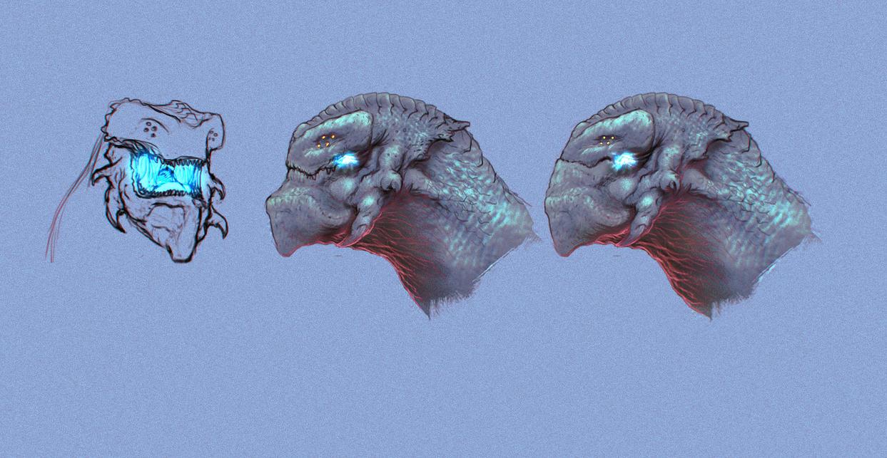 Kaiju-Heikegani Heads by NoeleoNl