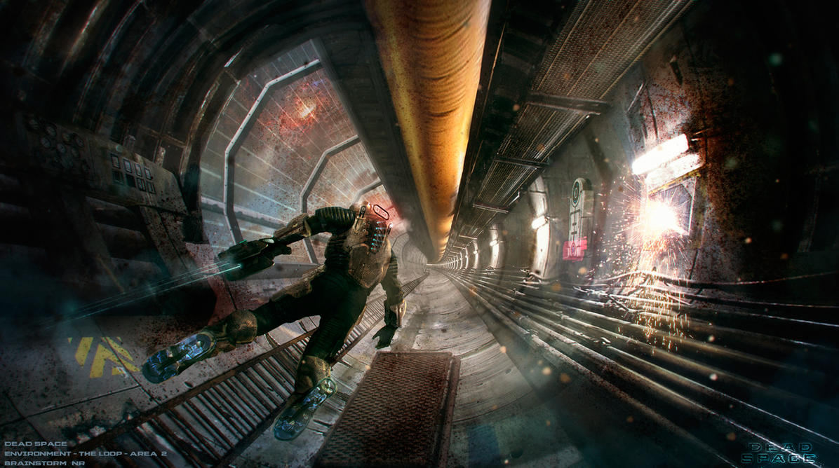 Dead Space Environment - The Loop - Area 2 - Isaac by NoeleoNl