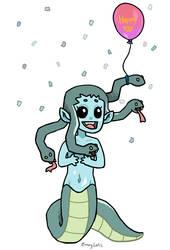 Modest Medusa - Happy 100 by EmeryLafis