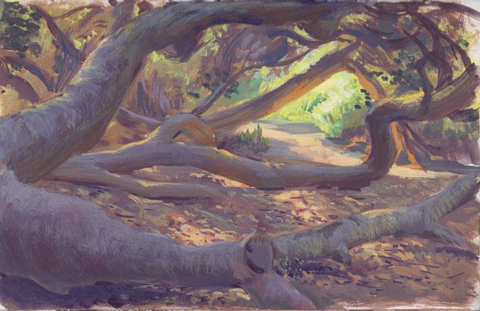 landscape painting by dangerousllama