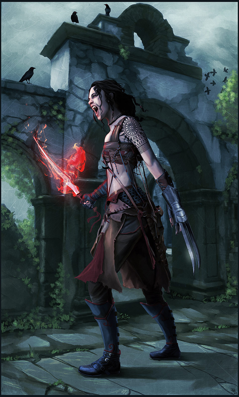 Vampire Amazon warrior...