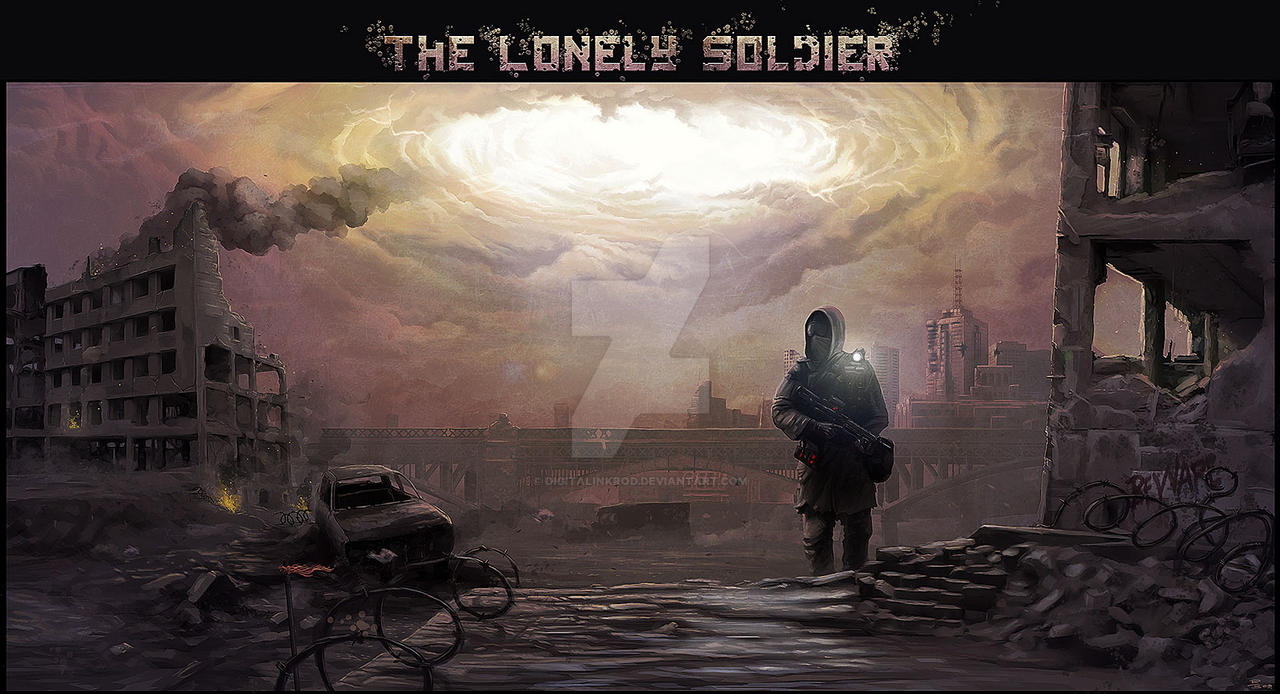 The Lonely Soldier by digitalinkrod