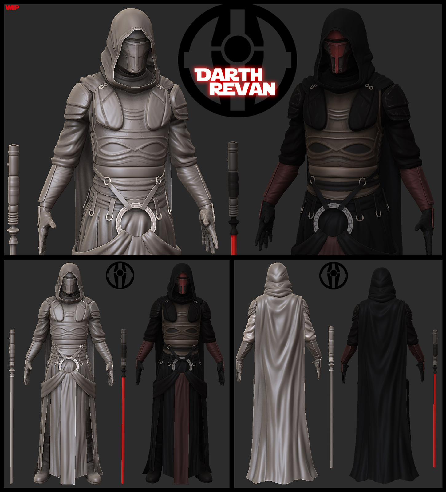 Darth Revan Comicon entry WIP by digitalinkrod