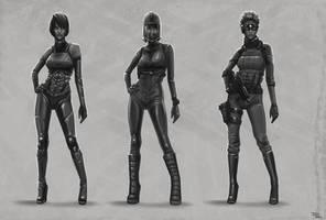Female character variations by digitalinkrod